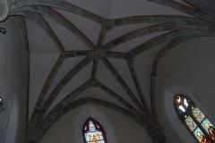 Eglise Saint-Yrieix et Saint-Eutrope - Français:   Église Saint-Yrieix-et-Saint-Eutrope de Janailhac, voute du chœur et ses vitraux