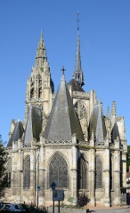 Eglise Notre-Dame - Français:   Eglise ND à Caudebec en Caux, Seine Maritime, France