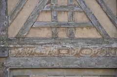 Maisons - English:   Dieppe (France, Normandy) detail of historic house Rue d\'Ecosse 9-15