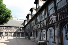 Aître de Saint-Maclou -  Rouen, the fine arts school, located in an ancient leper colony.