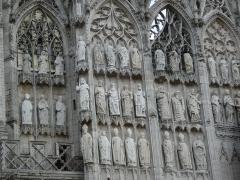 Ensemble archiépiscopal - Español: Detalle de la fachada de la catedral de Rouen (Francia)