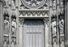 Eglise Saint-Ouen et Chambre des Clercs - English: Detail of a portal, Church of St. Ouen, Rouen, France.