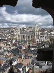 Eglise Saint-Ouen et Chambre des Clercs - Rouen Abbaye Saint-ouen vue de la tour-lanterne de l'église Saint maclou