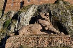 Lion sculpté par Bartholdi -  Le Lion de Belfort.