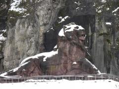 Lion sculpté par Bartholdi - Le Lion de Belfort (Territoire de Belfort, France).