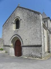 Eglise Saint-Jean-Baptiste - Extérieur de l'église Saint-Jean-Baptiste de Marnes (79). Façade occidentale.