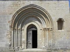Eglise Saint-Jean-Baptiste - Extérieur de l'église Saint-Jean-Baptiste de Marnes (79). Portail méridional.