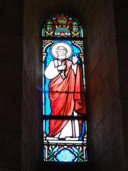 Eglise Saint-Hilaire - English: Église Saint-Hilaire de Melle, vitrail 09