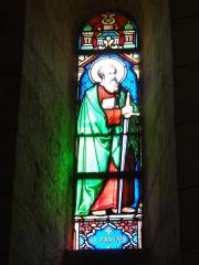 Eglise Saint-Hilaire - English: Vitrail de Saint-Paul. Église Saint-Hilaire de Melle, vitrail 10