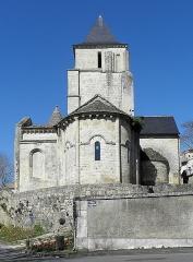 Ancienne église Saint-Savinien - Français:   Extérieur de l\'église Saint-Savinien de Melle (79). Chevet.