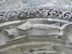 Restes de l'ancienne église Notre-Dame-de-la-Couldre - Français:   Façade de l\'église Notre-Dame-de-la-Couldre à Parthenay (79). Portail. Détail de la 4ème voussure.