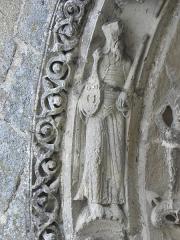 Restes de l'ancienne église Notre-Dame-de-la-Couldre - Façade de l'église Notre-Dame-de-la-Couldre à Parthenay (79). Portail. Détail de la 4ème voussure.