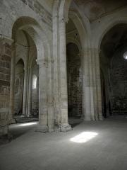 Ancienne église priorale Saint-Pierre de Parthenay-le-Vieux - Église Saint-Pierre de Parthenay-le-Vieux, Parthenay (79). Intérieur. Nefs vues du croisillon sud.