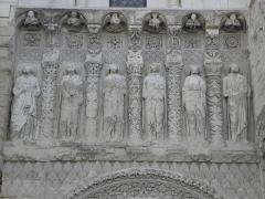 Eglise Saint-Médard - Français:   Travée gauche de la façade occidentale de l\'église Saint-Médard de Thouars (79).