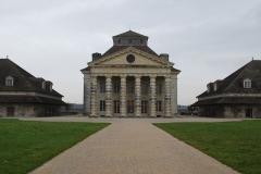 Ancienne saline royale, actuellement Fondation Claude-Nicolas Ledoux - Français:   Maison du directeur de la saline royale d\'Arc-et-Senans.