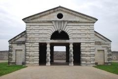Ancienne saline royale, actuellement Fondation Claude-Nicolas Ledoux - Français:   Remise et écuries du directeur de la saline royale d\'Arc-et-Senans.