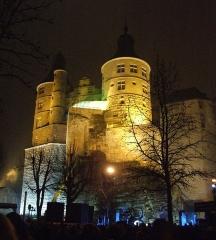 Château - Château de Montbéliard, vue de nuit, Montbéliard, Doubs, Franche-Comté, FRANCE