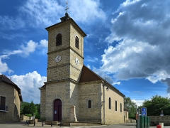 Eglise - This building is indexed in the Base Mérimée, a database of architectural heritage maintained by the French Ministry of Culture, under the reference PA00101737 .