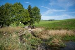 Usine communale - Français:   Usine communale de Métabief - bassin de retenue
