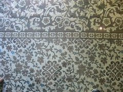 Maison paternelle de Pasteur - Arbois - maison de Pasteur. Linoleum utilisé dans la salle à manger, afin d'éviter un tapis, considéré comme un nid à microbes