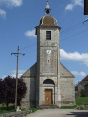 Eglise - English: Chevigny, Jura, France