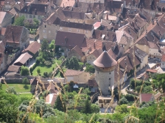 Enceinte urbaine - English: Tower and the corner of the old town in Poligny (Jura), France
