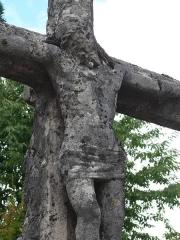 Croix de chemin en pierre datée de 1622 - English:   Wayside cross of Montigny-lès-Vesoul (Haute-Saône, France) - 1622