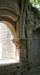 Ancienne abbaye Notre-Dame - Cliché montrant la modification des dispositions architecturales de la salle capitulaire de l'ancienne abbaye d'Alet-les-Bains, Aude, Languedoc-Roussillon, France.