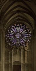 Cathédrale Saint-Michel et abords - Deutsch: Rosette der Kathedrale von Carcassonne