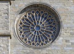 Cathédrale Saint-Michel et abords - English:  The rosette of Carcassonne Cathedral, Aude France
