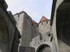 Cité de Carcassonnne - Porte narbonnaise de la cité de Carcassonne (Aude, France).