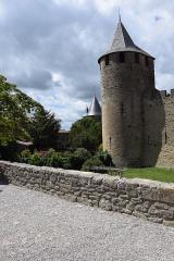 Cité de Carcassonne - English: Main portal of the Castle of Carcassonne