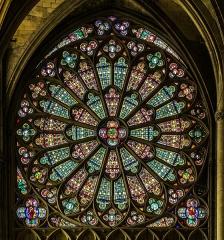 Eglise Saint-Nazaire - English: Rose window of the Saint Nazaire Basilica of Carcassonne, Aude, France