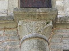 Domaine de l'ancienne abbaye - Abbaye de Caunes-Minervois (11). Abside de l'abbatiale. Chapiteau.
