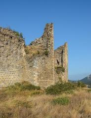 Ruines du château - English: Castle of Coustaussa, Aude, France