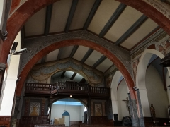 Eglise Saint-Michel - Français:   Espéraza - Église Saint-Michel - Nef vers l\'entrée
