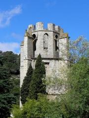 Ancienne abbaye Sainte-Marie d'Orbieu - Front est de l'abbaye Sainte-Marie de Lagrasse (11). Tour-clocher.