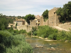 Porte de l'Eau - Català: Pòrta de l'Aiga i muralles (La Grassa)
