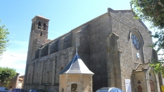 Tour du Portail-Neuf - Français:   Église paroissiale Saint-Jean-Baptiste, Laure-Minervois