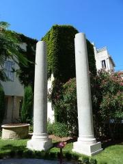 """Edifice romain dit """"Horreum"""" - Horreum (Classé Classé) Colonnes antiques du cloitre de Sant-Just"""