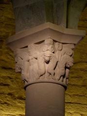 Eglise de l'Assomption - Intérieur de l'église Notre-Dame-de-l'Assomption de Rieux-Minervois (11). Chapiteau.