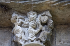 Ancienne abbaye de Saint-Papoul - English:  Book of Daniel: Daniel in the lions' pit.