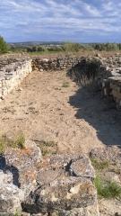 Vestiges de l'oppidum de Pech de Maho - Pech Maho en 2011 habitat 77/11