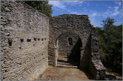 Vestiges de la chapelle Notre-Dame-de-la-Lauze - Français:   Vestiges de la chapelle préromane \