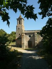 Vestiges de la chapelle Notre-Dame-de-la-Lauze - Français:   Eglise Saint-Pierre-es-Liens (et non Notre-Dame-de-la-Lauze) à Villarzel-Cabardès (Aude)