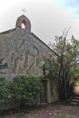 Chapelle de Gléon - English: Entry of the chapel of Gléon (Villesèque-des-Corbières, France).