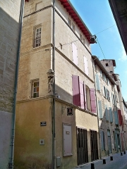 Maison - Français:   7 rue des Bijoutiers à Beaucaire (Gard, France).