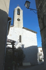 Eglise Saint-Michel de la Cadière - Français:   La Cadière-et-Cambo (Gard) - église Saint-Michel, façade ouest