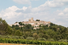 Château -  The castle and the village of Montpezat perched on the slope.