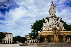Fontaine de l'Esplanade, dite fontaine Pradier - English: Fontaine Pradier, Place de la Libération, Nîmes